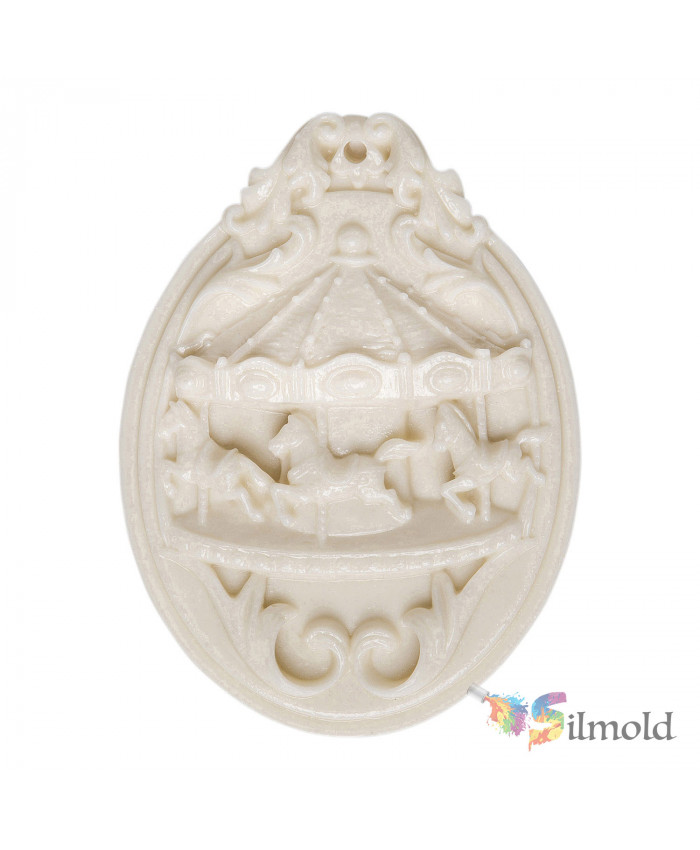 Carousell (perforated) Paintable Resin Object (2)