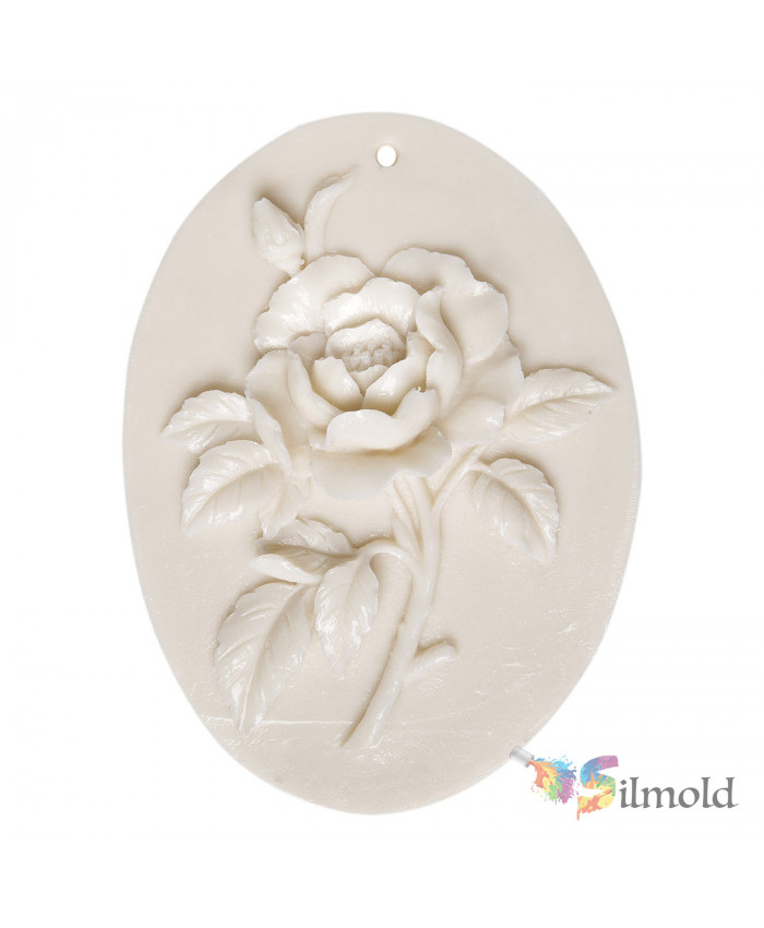 Rose (perforated) Paintable Resin Object