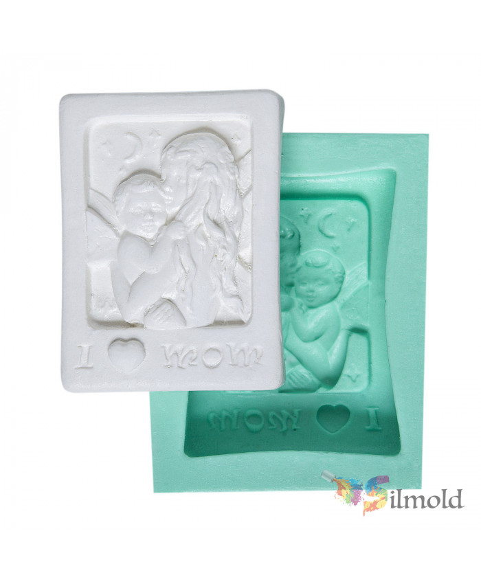 I Love Mum'' Silicone Mold