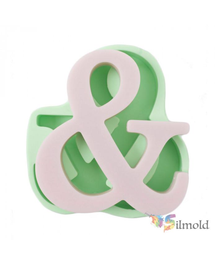 Ampersand (big) Silicone Mold