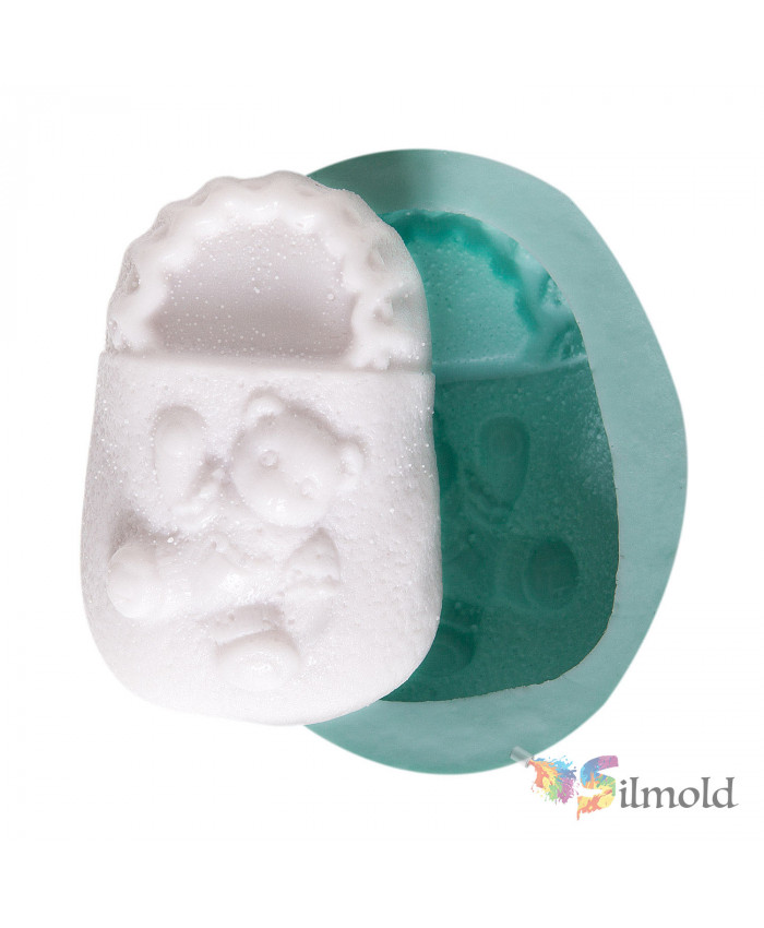 Bootee with Teddy Bear Silicone Mold