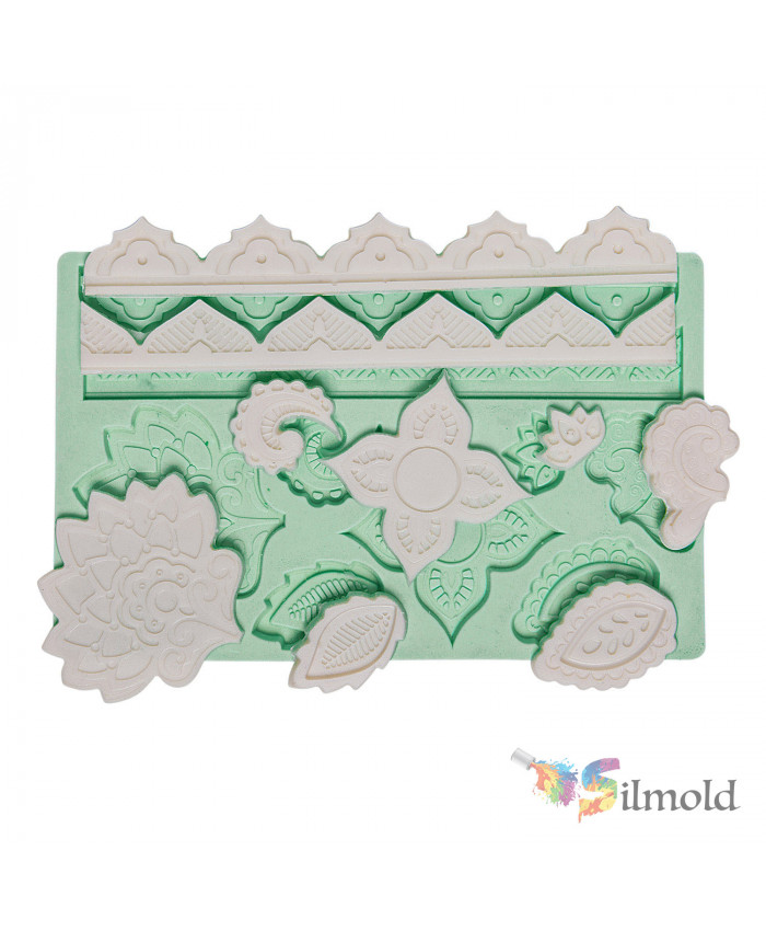 Bordures and Leaves Silicone Mold