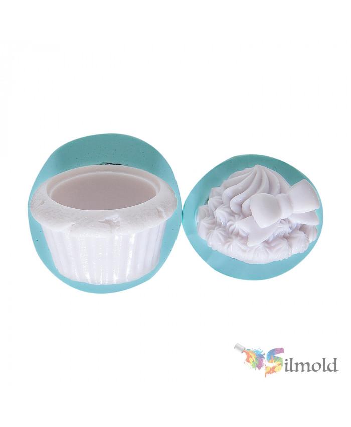 Box shaped like a Cupcake Silicone Mold