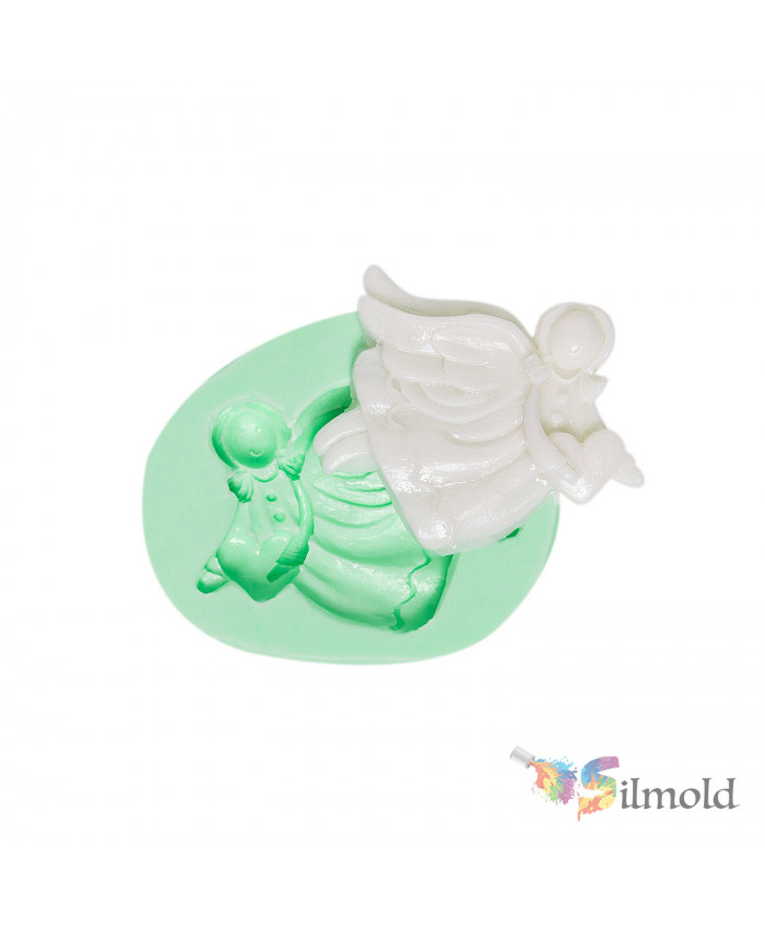 Christmas Angels-19 Silicone Mold