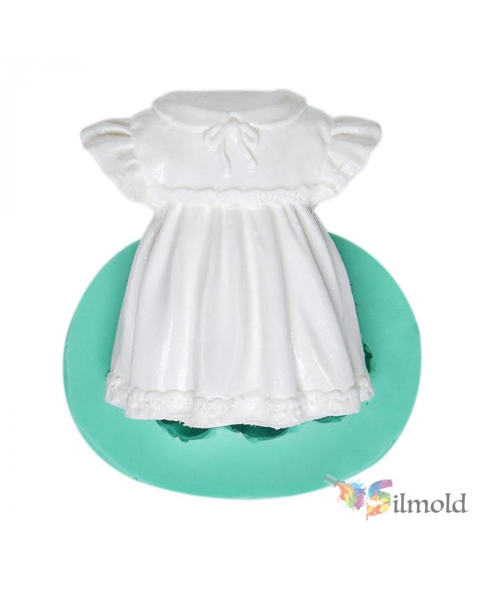 Cute Girl Dress Silicone Mold