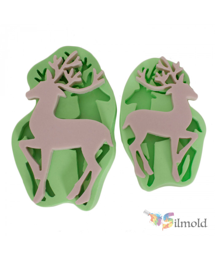 Deers (couple) Silicone Mold