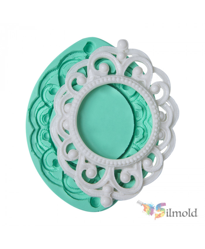 Dotted Round Frame Silicone Mold