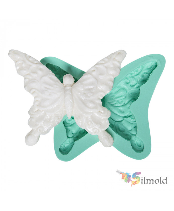 Embroidered Butterfly Silicone Mold