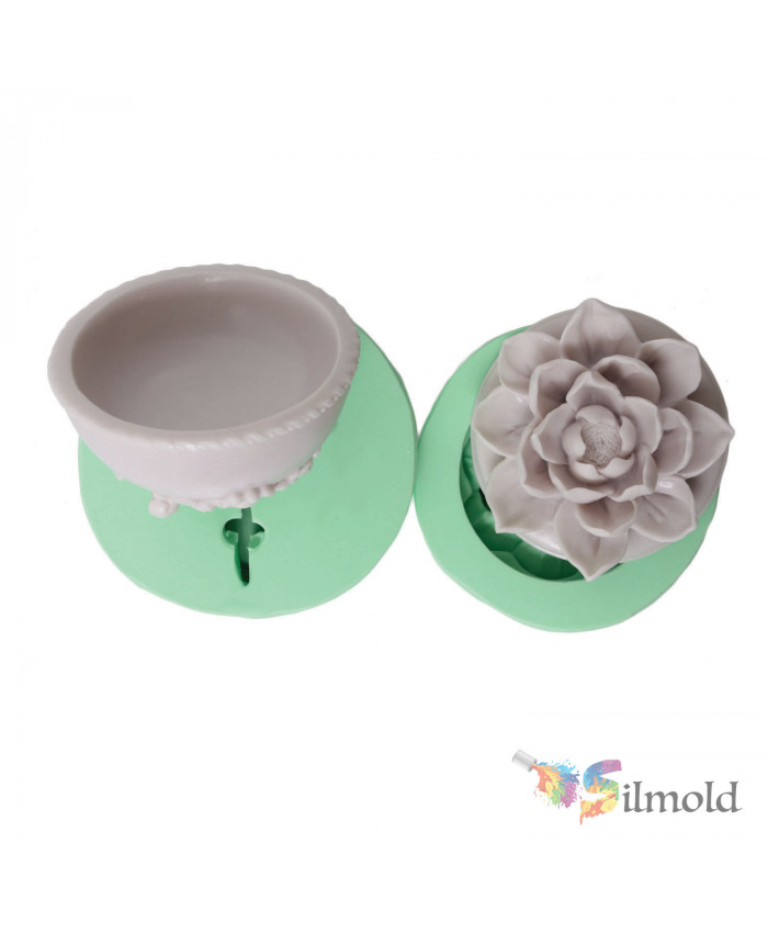 Flowered Box Silicone Mold