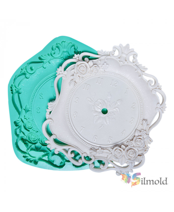 Flowered Clock Silicone Mold