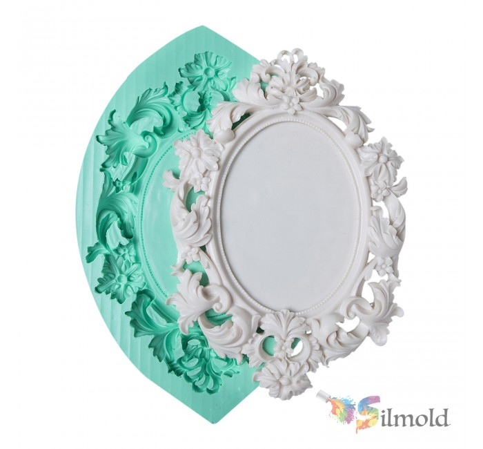 Flowered Frame Silicone Mold (4)