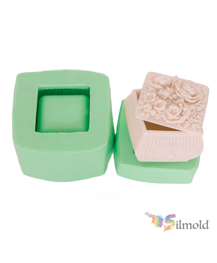 Flowered Little Box Silicone Mold