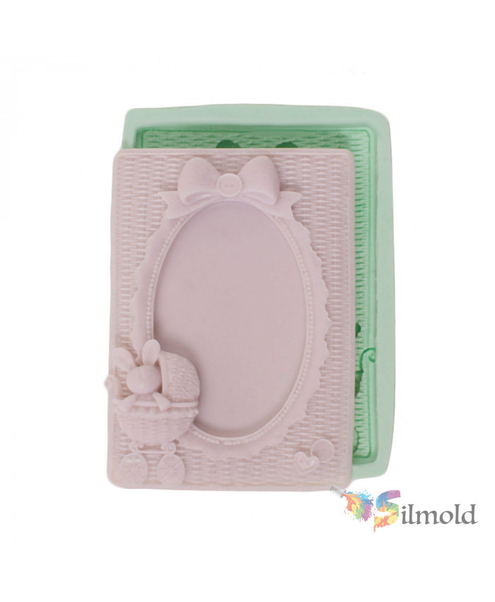 Frame with Baby Rabbit Silicone Mold