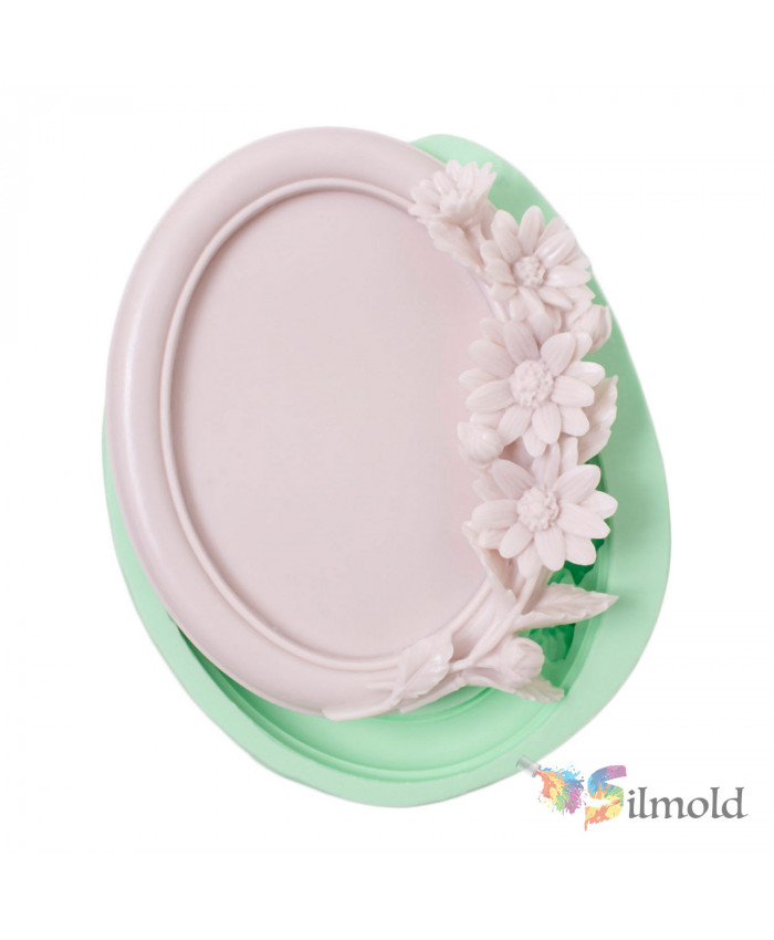 Frame with Chrsyanthemums Silicone Mold