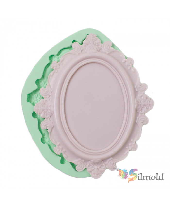 Frame with Patterned Sides Silicone Mold (2)
