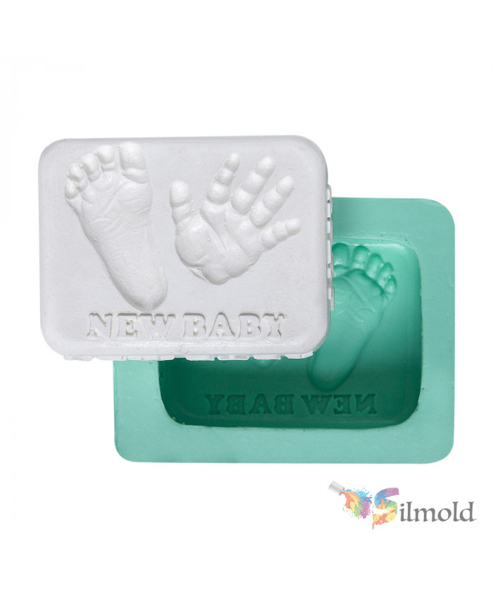 Handprint and Footprint of a Baby Silicone Mold