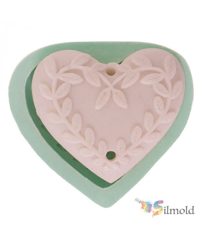 Heart with Spikes (double-perforated) Silicone Mold