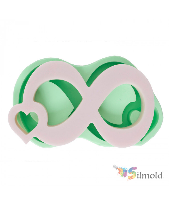 Heart-detailed ''∞'' (big) Silicone Mold