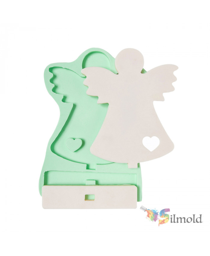 Heart-detailed Angel (footed) (large sized) Silicone Mold