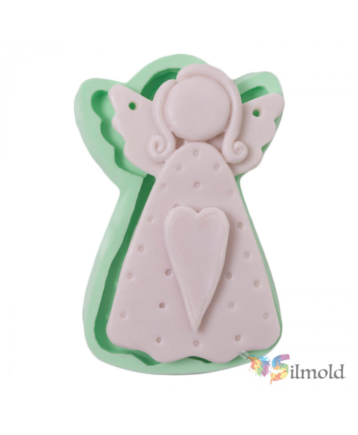 Heart-detailed Angel Silicone Mold