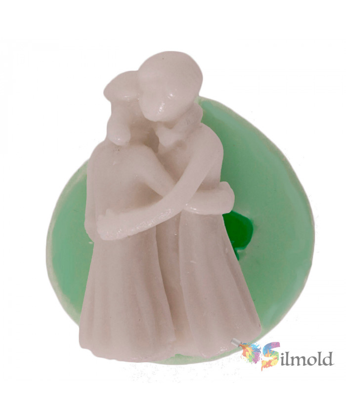 Hugging Couple Silicone Mold