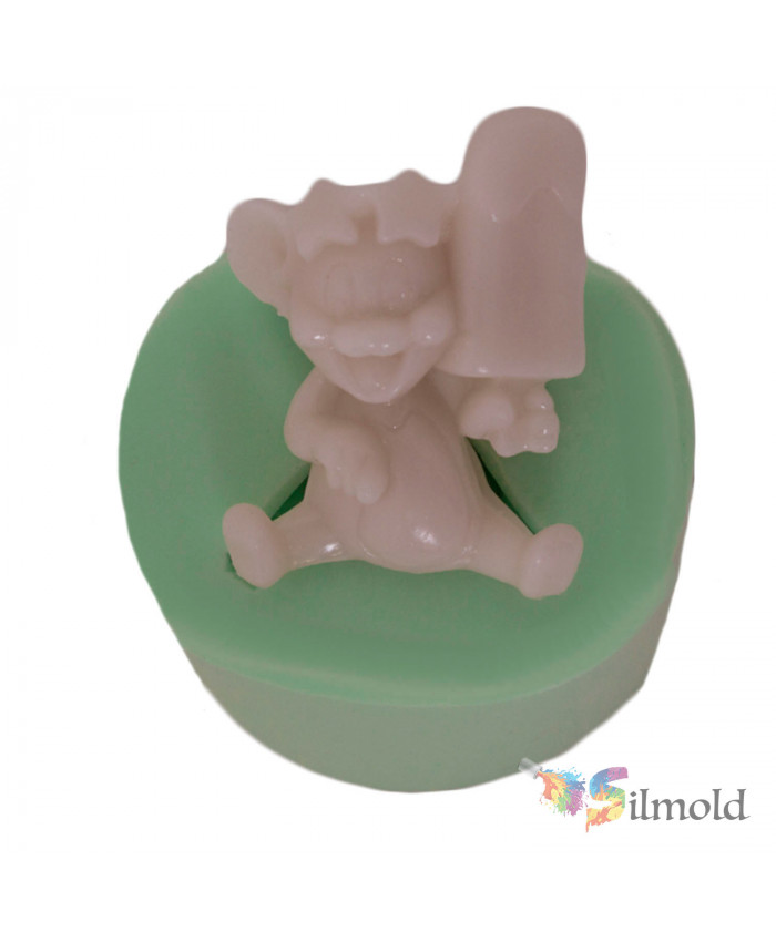 Jerry Eating his Icecream Silicone Mold