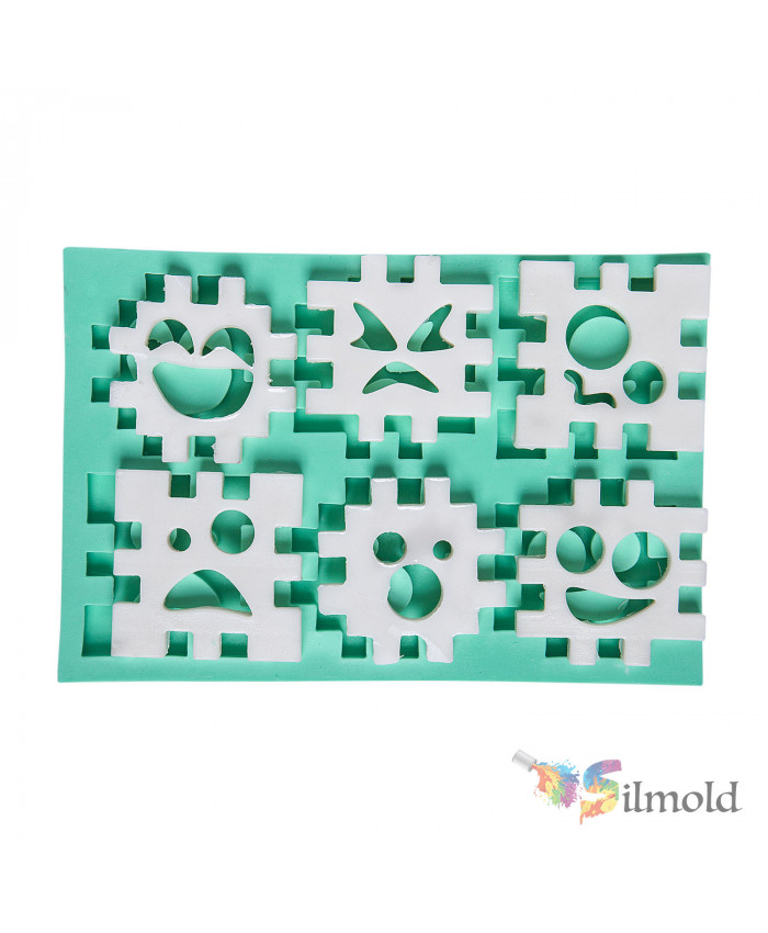 Jigsaw Puzzle pieces (cube) Silicone Mold