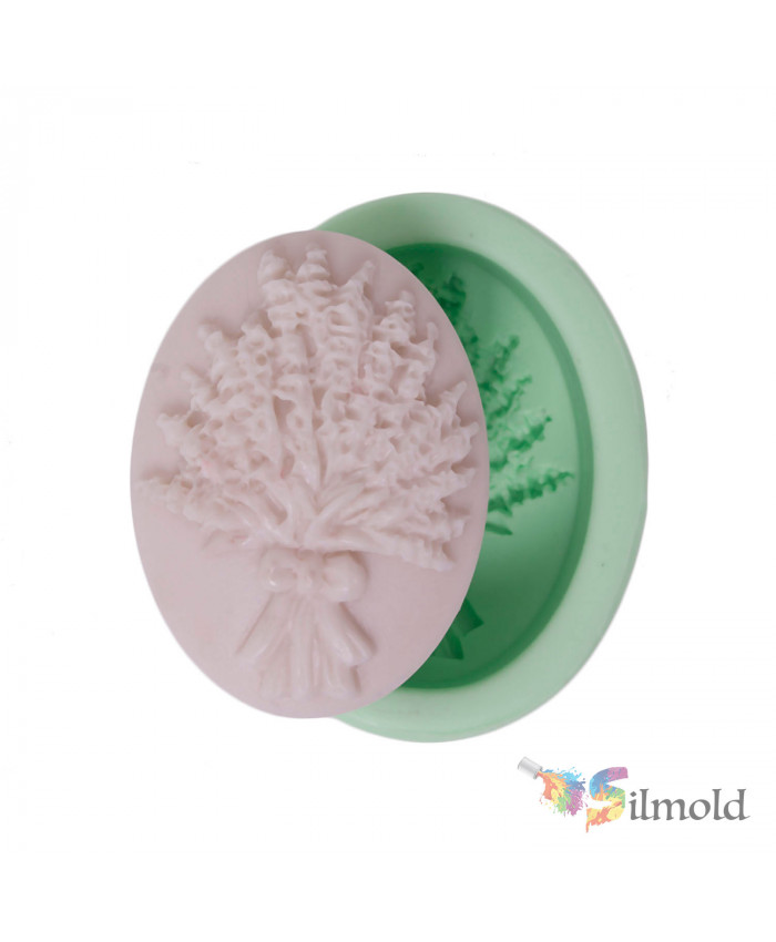 Lavender Bouquet with Bowtie Silicone Mold