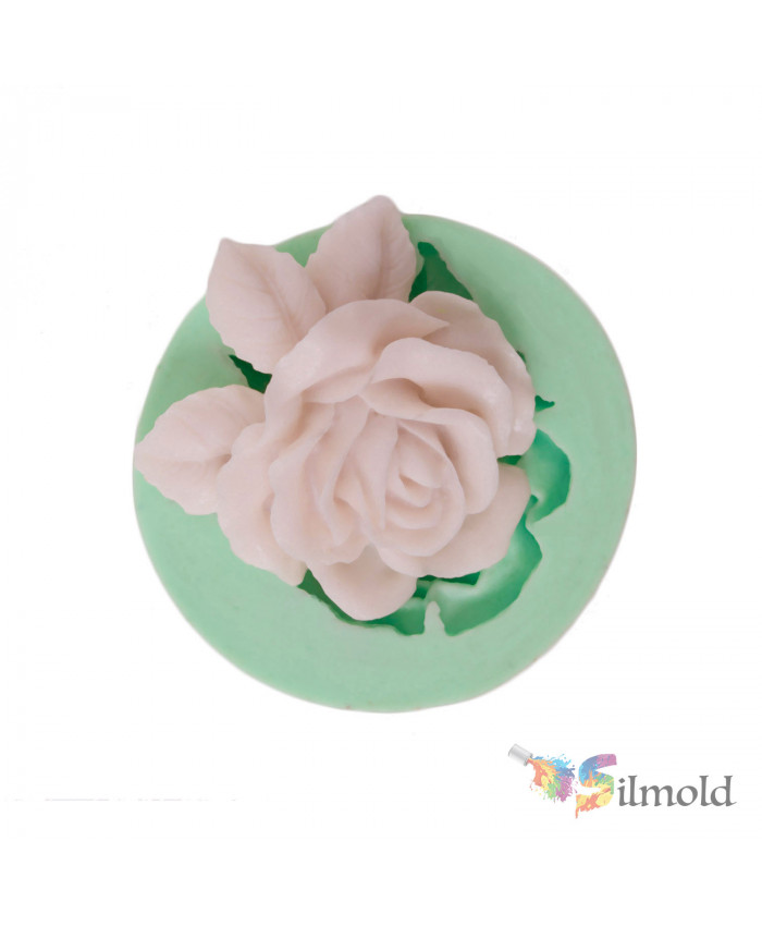 Leafed Rose Silicone Mold
