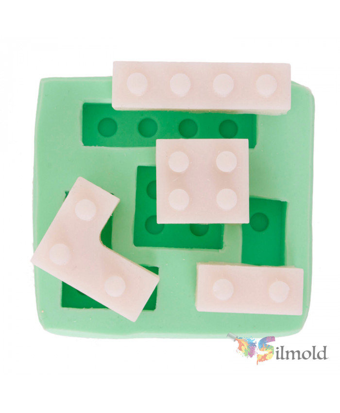 Lego Pieces (quad) Silicone Mold