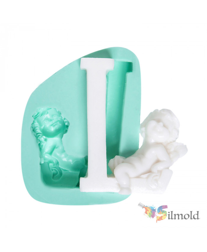 Letter ''L'' with an Angel (big) Silicone Mold