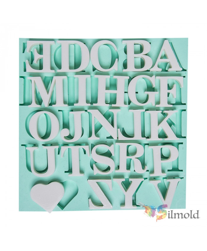 Letters (big) Silicone Mold (2)
