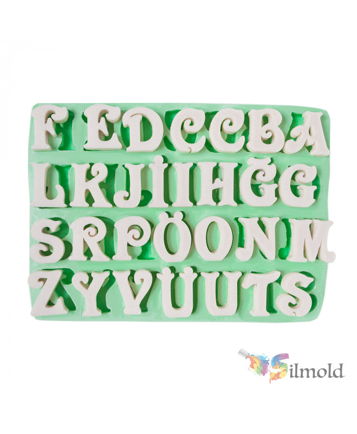 Letters (big) Silicone Mold (3) Silicone Mold