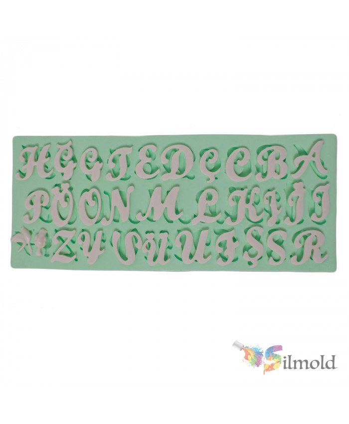 Letters (hand-writing) Silicone Mold