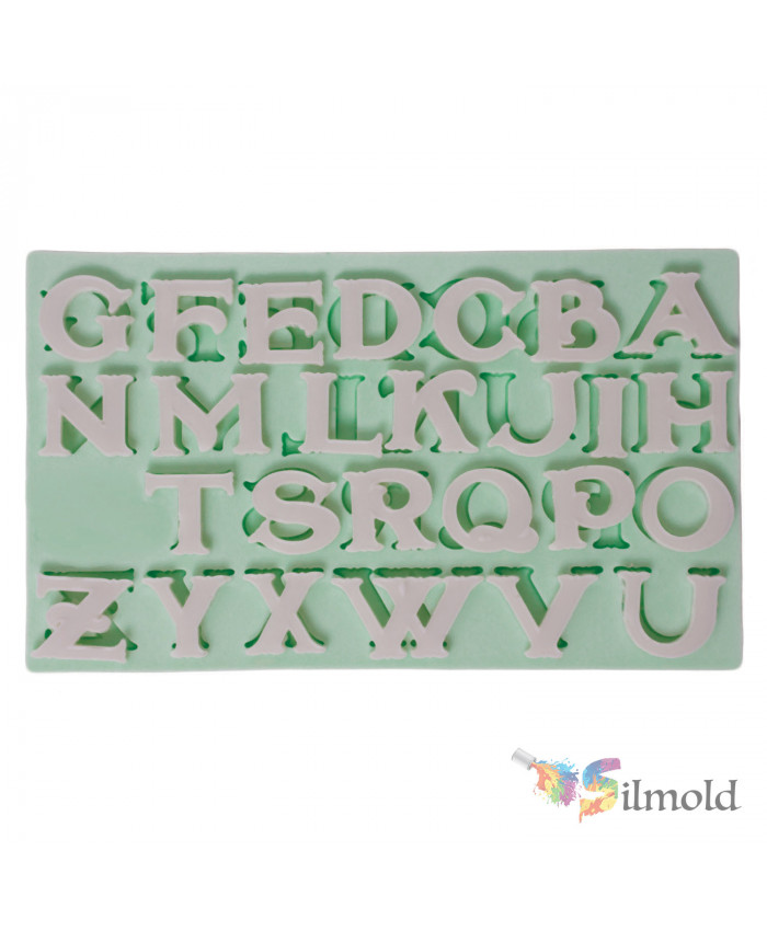 Letters (italic) Silicone Mold