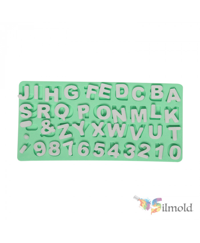 Letters and Digits (2) Silicone Mold