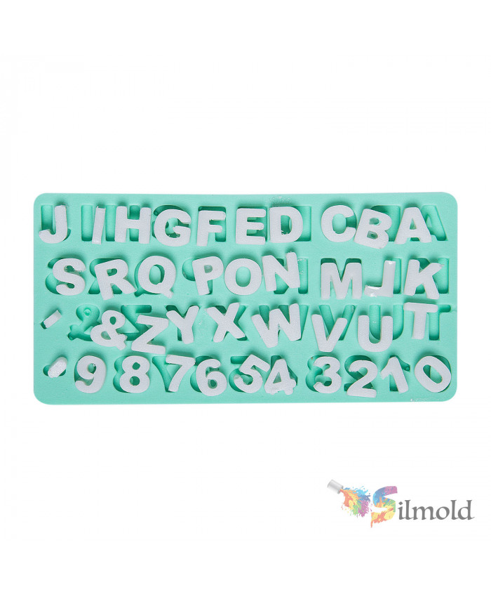 Letters and Digits Silicone Mold