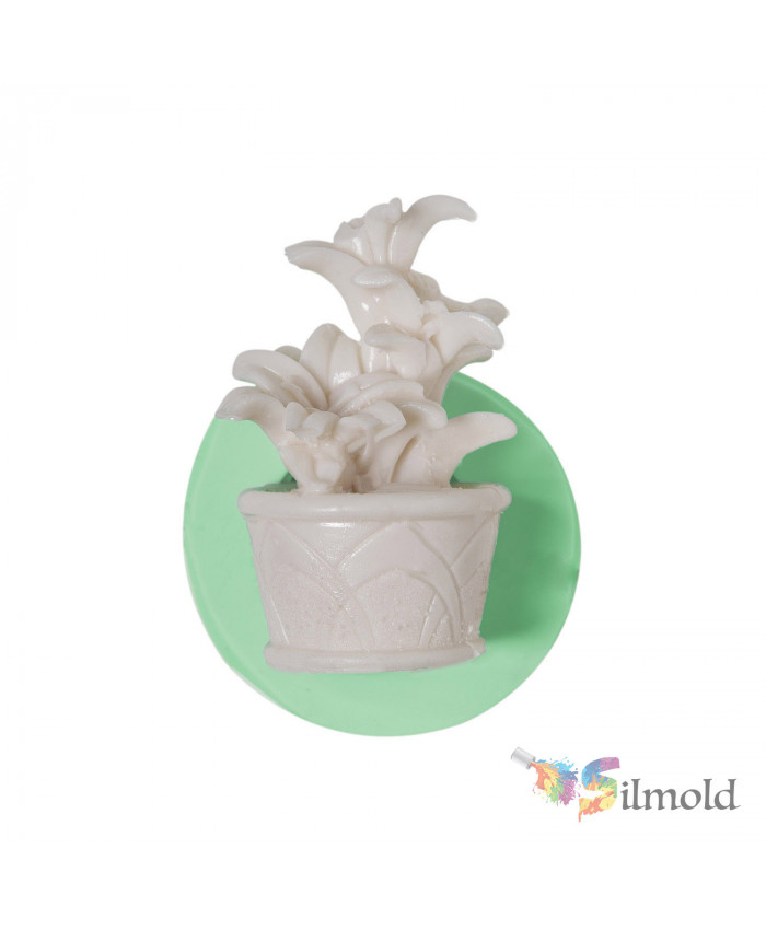 Melissa in a Flowerpot Silicone Mold