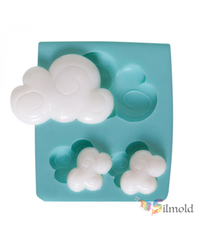Patterned Clouds (trio) Silicone Mold