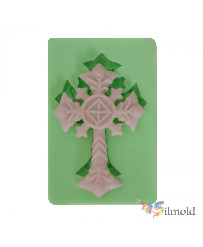 Patterned Cross Silicone Mold