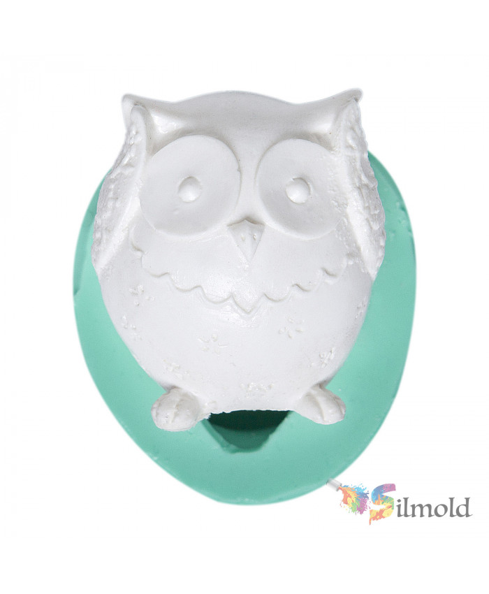 Patterned Owl Silicone Mold