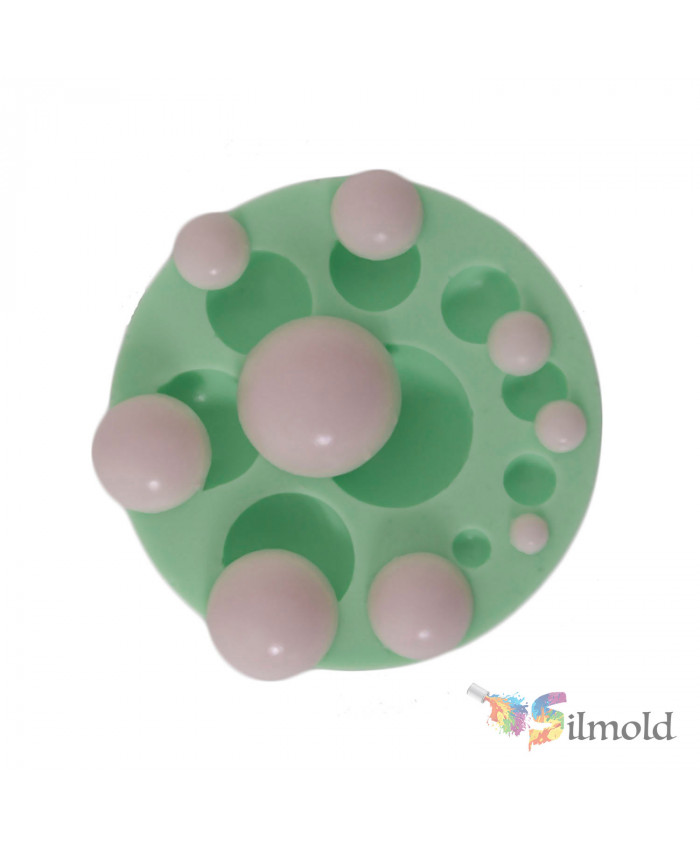 Pearls (in 9 different sizes) Silicone Mold