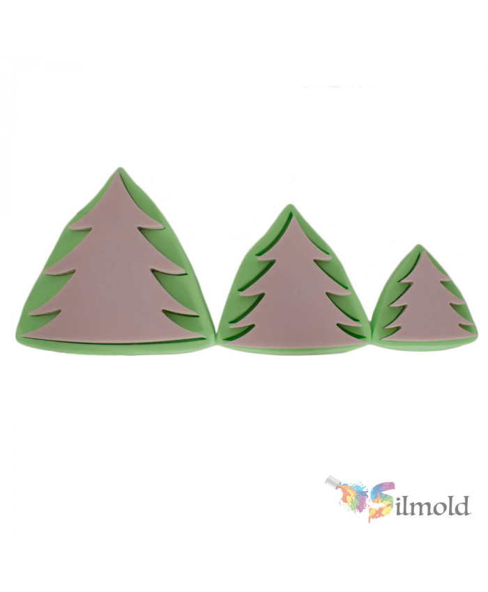 Pine Trees (trio) Silicone Mold