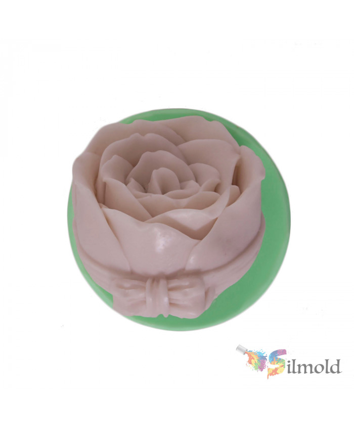 Rose Bouquet with Bowtie Silicone Mold