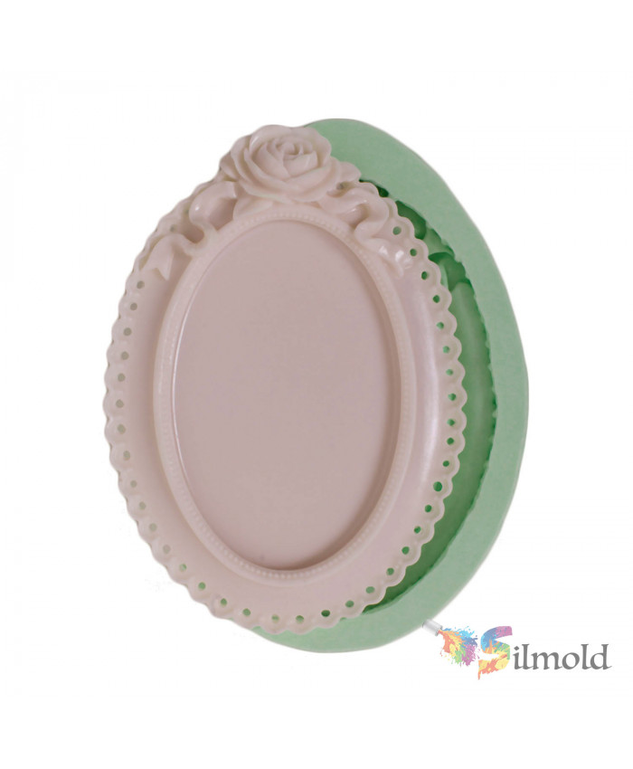 Rosy Frame with Perforated Sides (large-sized) Silicone Mold