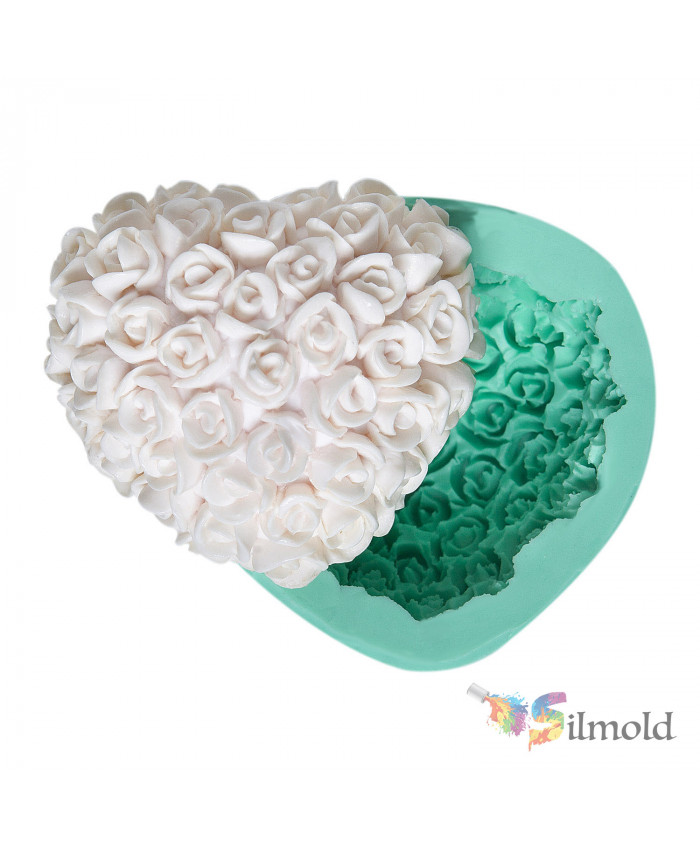 Rosy Heart Silicone Mold