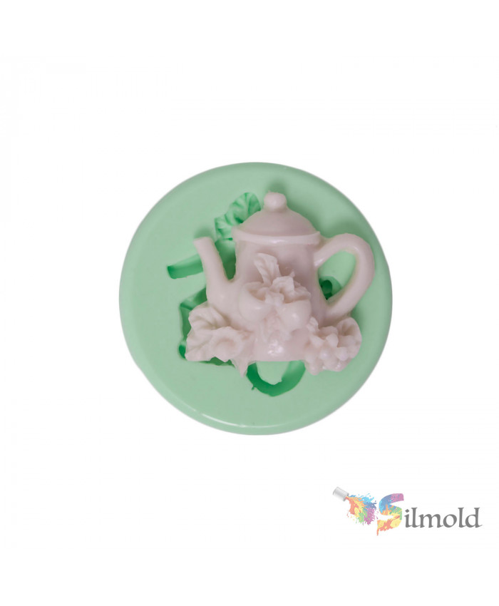 Rosy Teapot Silicone Mold