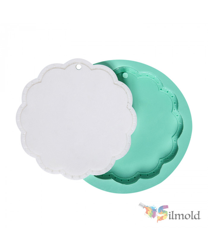 Round Plaque (perforated) Silicone Mold