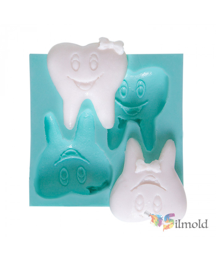 Smiling Teeth (couple) Silicone Mold