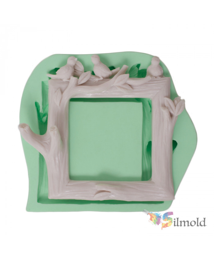Socket Frame with Birds and Branches Silicone Mold